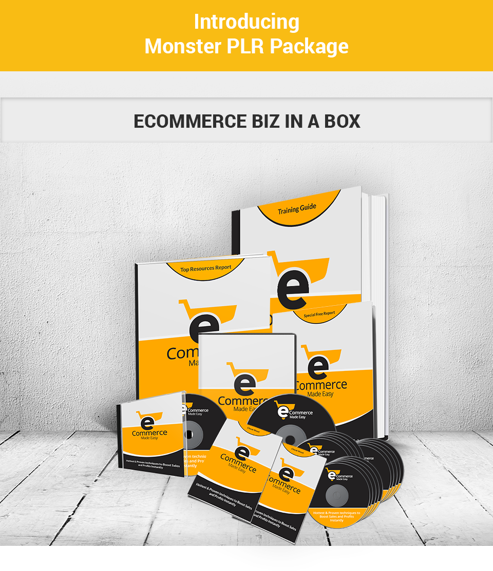 ecommerce biz in a box plr
