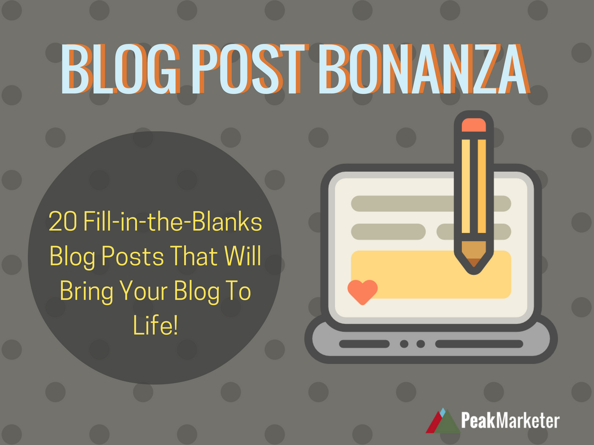 Blog Post Bonanza