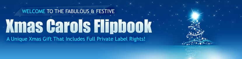 Christmas Carols Flipbook PLR