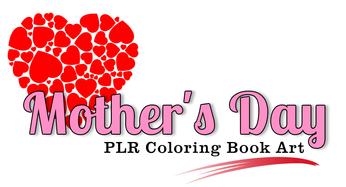Mothers Day PLR Coloring Art